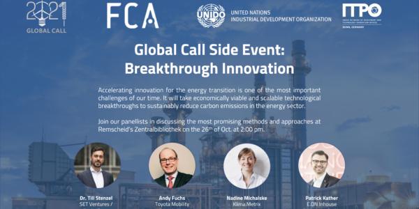 Side Events Breakthrough Innovation